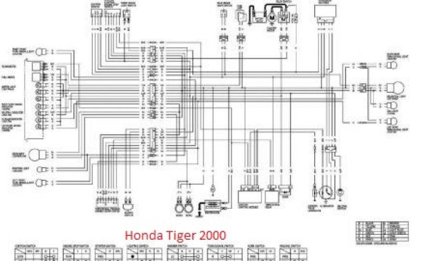 diagram kelistrikan honda tiger 2000