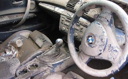 kerusakan mobil kebanjiran