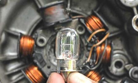 lampu motor putus