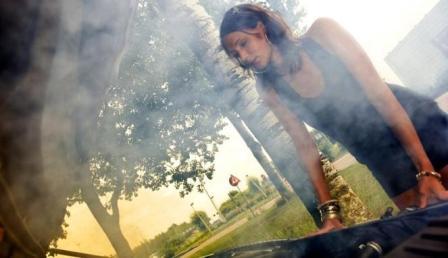 asap putih kap mesin