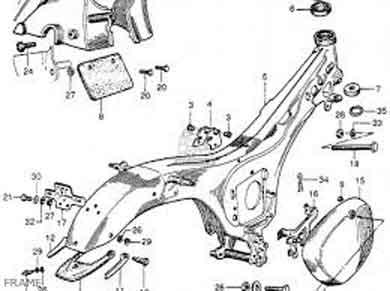 rangka motor back bone frame