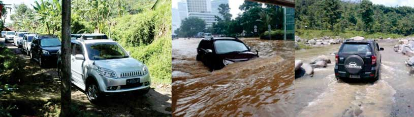 toyota rush jalan banjir