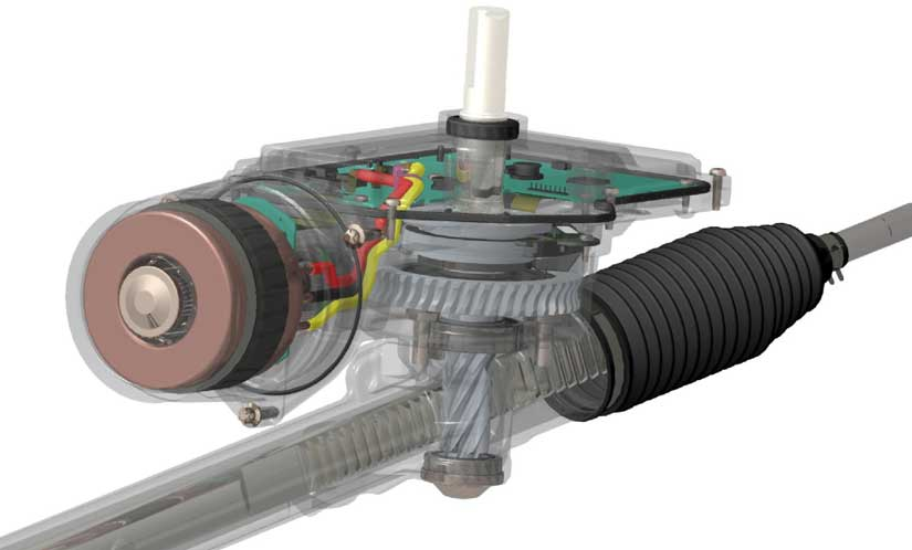 part electric power steering mobil
