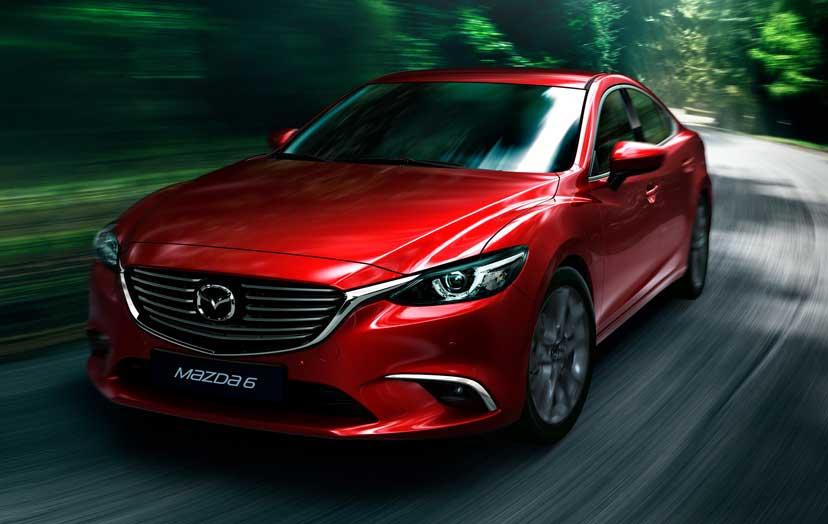 red Mazda 6 2015