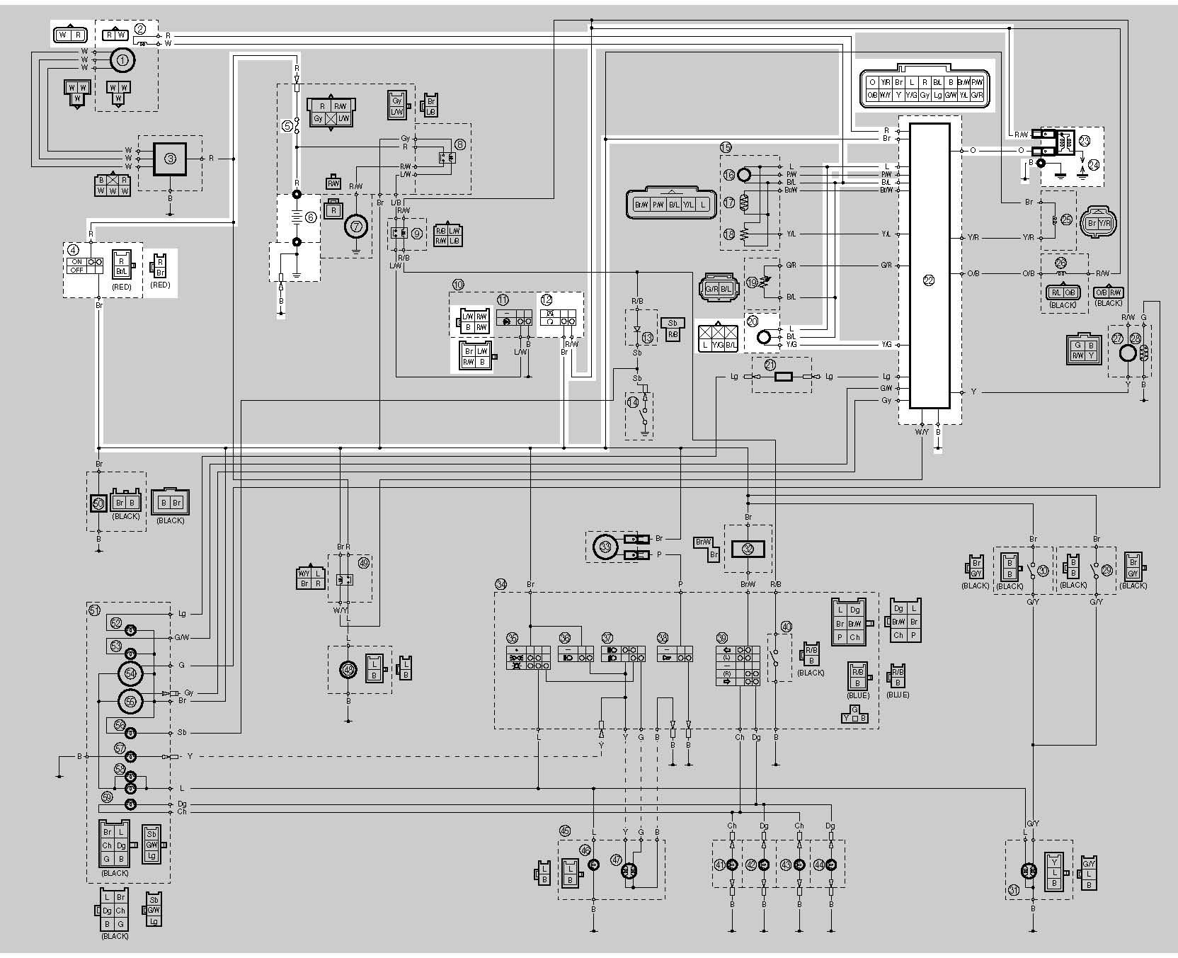 skema wiring diagram kelistrikan yamaha vixiona