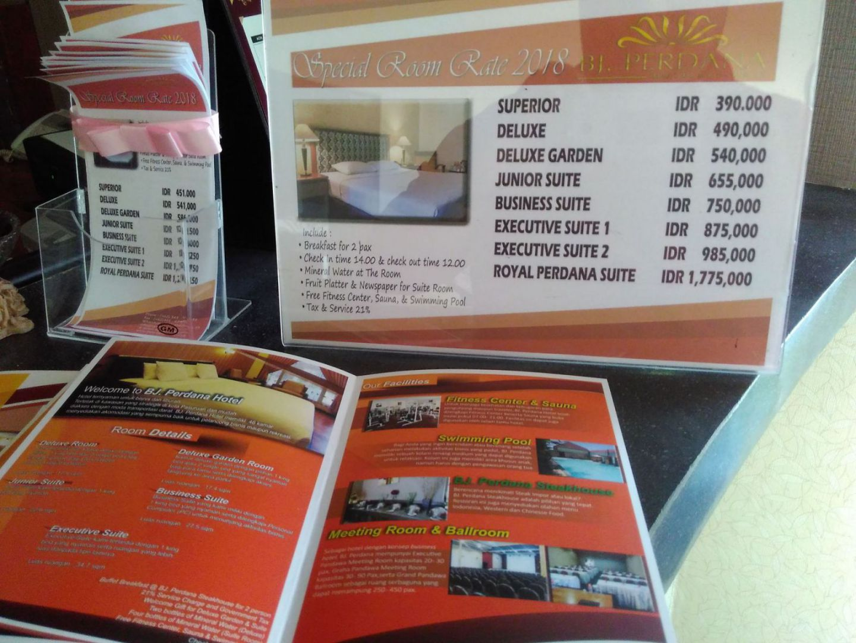 kamar Hotel BJ Perdana Pasuruan