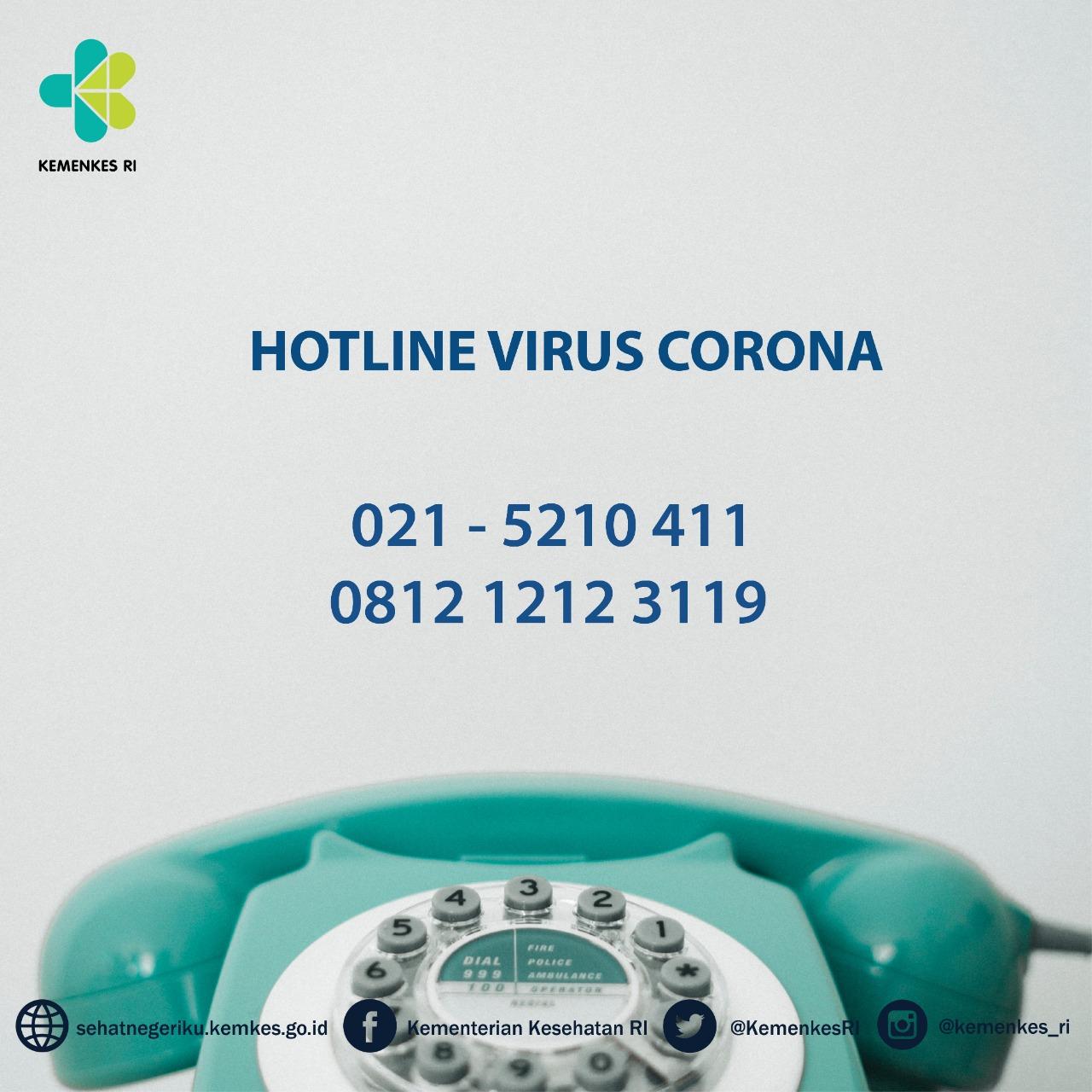 hotline telp darurat corona covid19 kemenkes ri